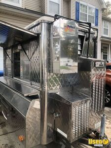 All Stainless Steel 2000 5' x 8' Food Concession Trailer with Pro Fire System for Sale in Virginia!