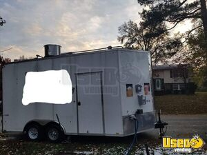 Ready for Business Used 2017 8' x 16' Food Concession Trailer for Sale in Virginia!