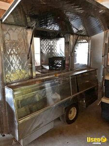 Used 2015 - 5.5' x 9' Stainless Steel Street Food Concession Trailer for Sale in Virginia!