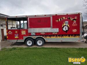 Ready for Action Food Concession Trailer with Porch / Mobile Kitchen Unit for Sale in Washington!