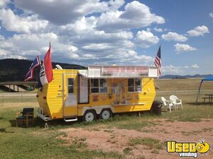 Self-Contained Turnkey 8' x 19' Food Concession Trailer with Restroom for Sale in Wyoming!
