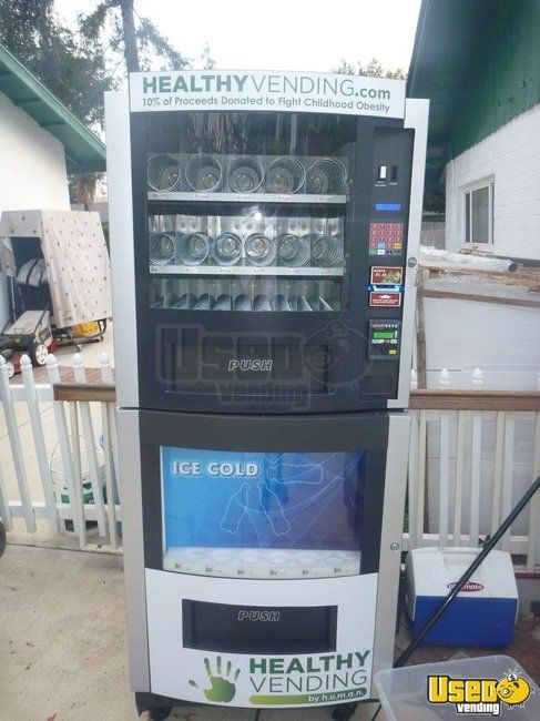 (4) - Fortune Snack & Soda Combo Vending Machines for Sale in California!
