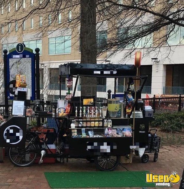 2017 - 3' x 8' Bike Cafe Coffee Concession Cart / Used Cafe on a Bicycle for Sale in Alabama!