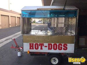 All Stainless Steel Hot Dog Cart / Street Food Vending Concession Cart for Sale in California!