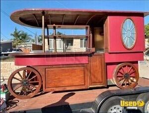 Freshly Painted Old Fashioned Style Wooden Wagon Concession Cart for Sale in California!!!