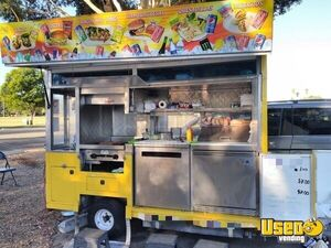 5' x 13' Street Food Vending Concession Cart with Side Serving Feature for Sale in California!