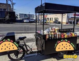 2019 - 9' Electric Bike Street Food Vending Concession Cart with Solar Panel Roof for Sale in California!!!