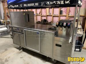 All Stainless Steel 3' x 8' Sierra Carts Class B BBQ Food Vending Cart for Sale in Idaho!