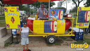 Good Condition 2006 3' x 8' Famous Willy Dog Hot Dog Cart for Sale in Illinois!