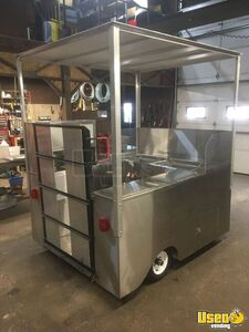 NEW 2019 - 5.3' x 6.2' All Stainless Steel Stand In Food Cart for Sale in Indiana- Wheelchair Accessible!