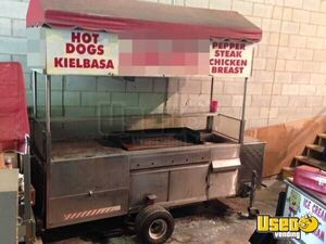 Fully Self-Contained 2.5' x 9' Hot Dog Food Concession Cart for sale in Massachusetts!!!