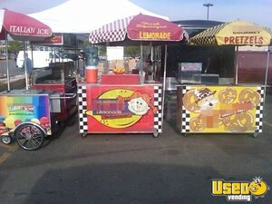 Multi-Unit Food Vending Push Cart + Tent Operation w/ 16' Enclosed Trailer for Sale in Massachusetts!
