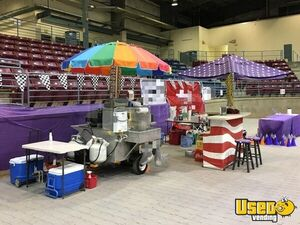 Classic Stainless Hot Dog Vending Concession Cart with Bar and Stools for Sale in Ohio!