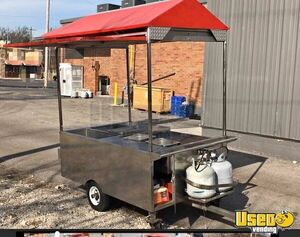 2010 4' x 6' Stainless Steel Food Vending Cart / Used Street Food Cart for Sale in Ohio!