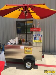 All Stainless Steel 2018 4.5' x 7' The Big Dog Hot Dog Vending Concession Cart for Sale in Texas!