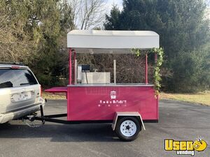 Unique 3' x 8' Open Air Snowball Concession Cart / Used Shaved Ice Kiosk for Sale in Virginia!