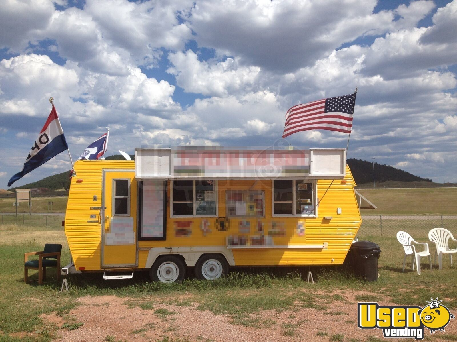 Food Concession Trailer Concession Trailer Spare Tire Wyoming for Sale - 2