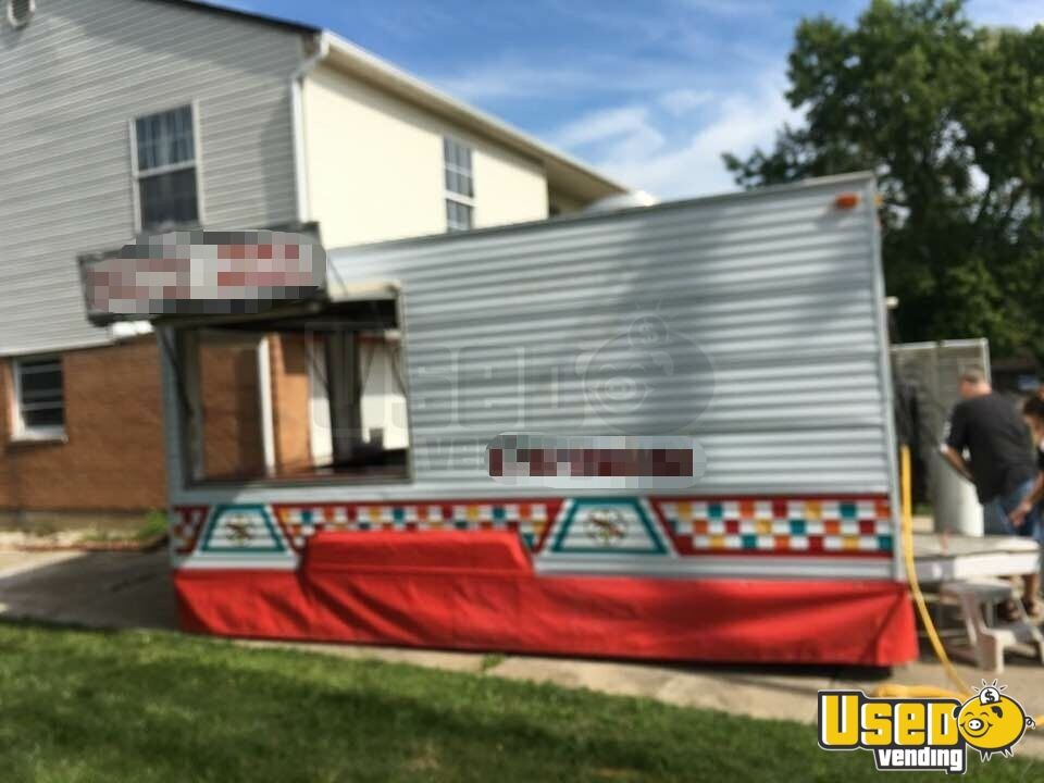 Food Concession Trailer Concession Trailer Stainless Steel Wall Covers Ohio for Sale - 3