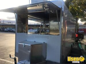 Food Concession Trailer Kitchen Food Trailer Diamond Plated Aluminum Flooring California for Sale