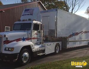 1995 Freightliner Day Cab Semi Truck with Stacker Trailer for Sale in New Hampshire!