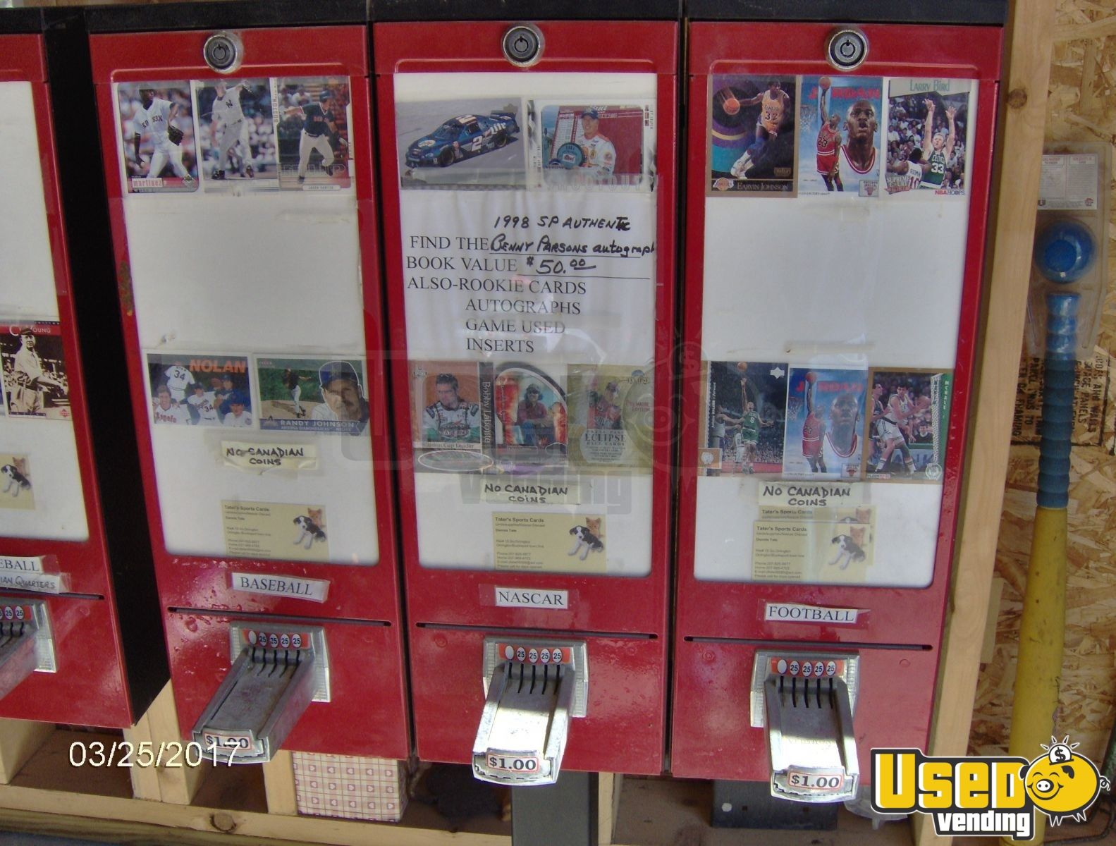 Bulk Baseball Card Sticker Vending Machines For Sale In Maine