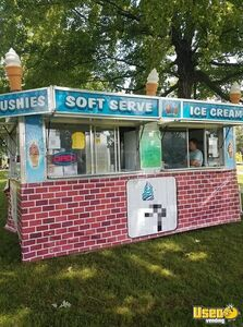 Turnkey 2003 8.5' x 16' Ice Cream and Slushy Concession Trailer for Sale in Illinois!