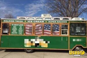 Eye-Catching Trolley Ice Cream Truck / Used Soft Serve Truck for Sale in South Dakota!