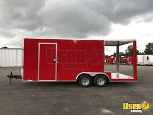 2018 8.5' x 24' WOW Cargo Food Kitchen Concession Trailer w/ Porch for Sale in Alabama!