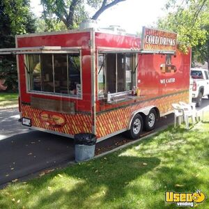 2010 8' x 23' Very Versatile Red Food Concession Trailer for Sale in Alberta!