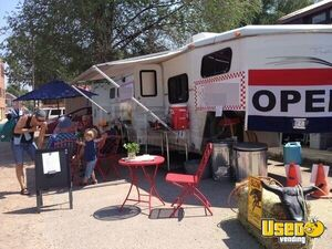 7' x 39' Gooseneck Mobile Kitchen Food Trailer Conversion w. Sleeping Quarters for Sale in Colorado!