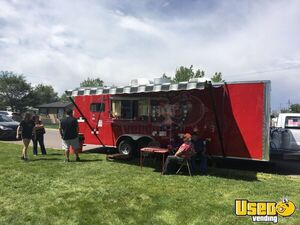 2015 Lark 8' x 32' Loaded Kitchen Concession Trailer with Porch and Bathroom for Sale in Colorado!
