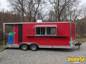 2018  Dual Axle Freedom 23' Kitchen Food Trailer with Porch for Sale in Connecticut!
