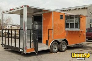 Custom Built NEW Food Concession Trailer Mobile Kitchen with Porch for Sale in Delaware Many Sizes!
