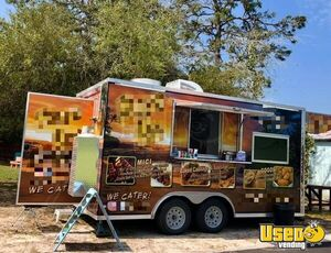 2018 8.5' x 16' Rock Solid Cargo Food Concession Trailer / Mobile Kitchen for Sale in Florida!!