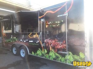 All Stainless Steel 22' Food Concession Trailer w/ Pro Fire Suppression System for Sale in Florida!