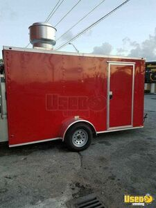Licensed 2017 - 6' x 12' Mobile Kitchen Concession Trailer with ProTex Fire Suppression System for Sale in Florida!