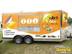 2012 - 8.5' x 16' Used Mobile Kitchen Concession Trailer for Sale in Florida!!!
