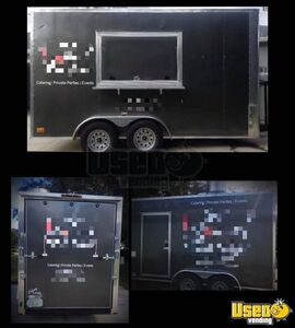 2019 - 7' x 14' Fully Loaded Food Concession Trailer / Commercial Mobile Kitchen for Sale in Florida!