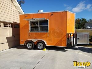 Used 2019 7' x 12' Vnose Freedom Food Concession Trailer in Excellent Condition for Sale in Georgia!