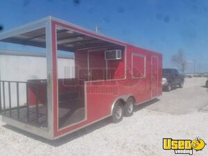 2017 Continental Cargo 8.5' x 24' Used Food Concession Trailer with Porch for Sale in Illinois!