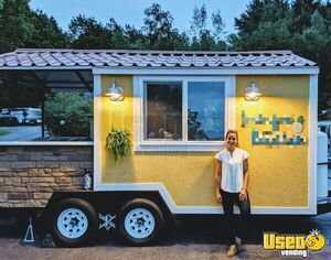 Lightly Used 2018 Heavy Duty 8' x 16' Food Concession Kitchen Trailer with Porch for Sale in Maine!