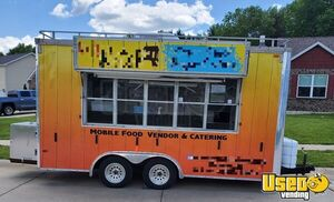 8' x 16' United Expressline Used Mobile Kitchen Food Concession Trailer for Sale in Missouri!!!