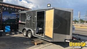 Lightly Used 2019 8.5' x 16' Lark Custom Food Concession Trailer/Mobile Kitchen for Sale in Montana!
