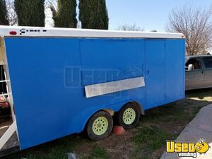 2004 - 8.5' x 20' Stainless Steel Food Concession Trailer with 4' Porch for Sale in New Mexico!