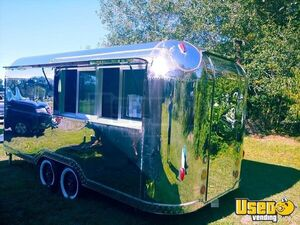 All Stainless Steel 2019 - 7' x 16' Vintage Style Kitchen Food Concession Trailer for Sale in North Carolina!