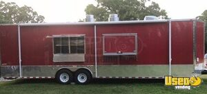 Lightly Used 2018 8' x 30' Freedom  Mobile Food Concession Trailer w/ Bathroom for Sale in Oklahoma!