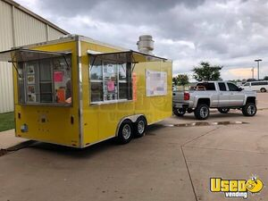 2015 - 8.5' x 18' Food Concession Trailer / Commercial Mobile Kitchen for Sale in Oklahoma!