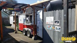 Turnkey Ready Catering and Kitchen Food Concession Trailer with Warehouse for Sale in Oregon!