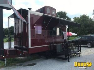 2012 - 8' x 24' Caboose Concession Trailer with Porch for Sale in Pennsylvania!