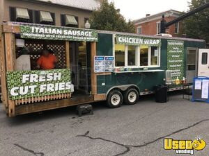 Turnkey 2004 Pace American 9.6' x 35' Kitchen Food Concession Trailer with Porch for Sale in Pennsylvania!